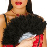 Black Feather Fan