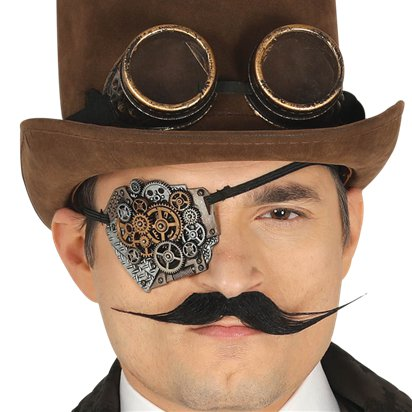 Steampunk Eye Patch - Steampunk Fancy Dress Accessories left
