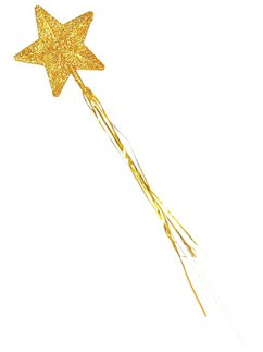 Gold Glitter Star Wand