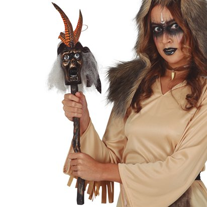 Witch Doctor Staff - Halloween Fancy Dress Accessories front
