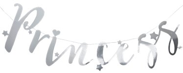 Princess Perfection Silver 'Princess' Paper Bunting