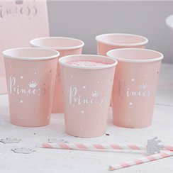 Princess Perfection Silver Foiled Paper Cups