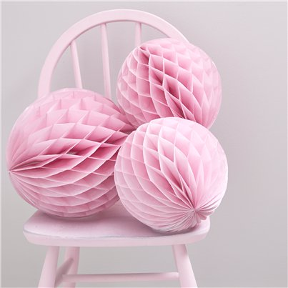 Princess Perfection Pink Honeycomb Balls - 30cm