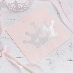 Princess Perfection Silver Foiled Napkins