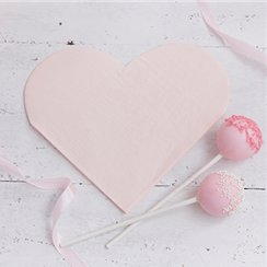Princess Perfection Heart Shaped Paper Napkins