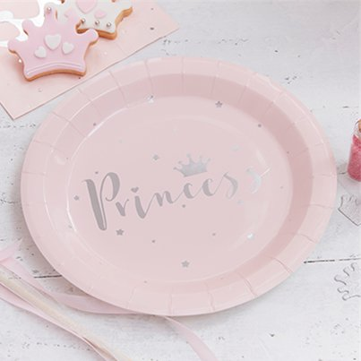 Princess Perfection Silver Foiled Paper Plates