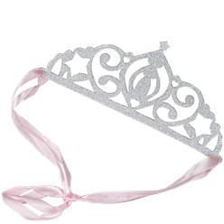 Princess Perfection Silver Glitter Paper Tiaras