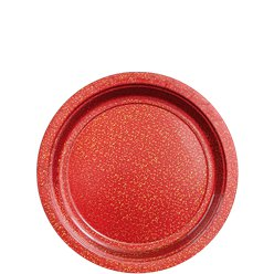 Red Sparkly Plates - 18cm