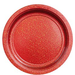 Red Sparkly Plates - 23cm