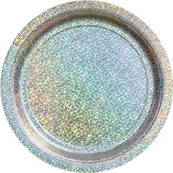 Silver Sparkly Plates - 18cm