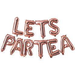 Rose Gold 'LETS PARTY' Balloon Bunting
