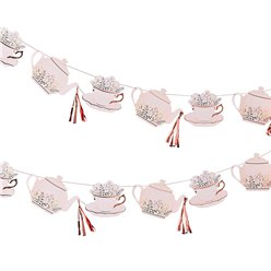 Rose Gold Teacup & Teapot Bunting