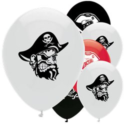 "Pirate Treasure Party Balloons - 12"" Latex"