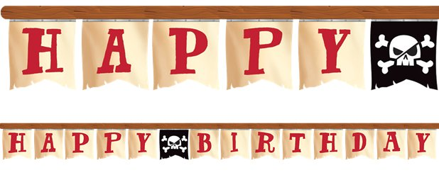 Pirate Treasure 'Happy Birthday' Banner - 2.6m