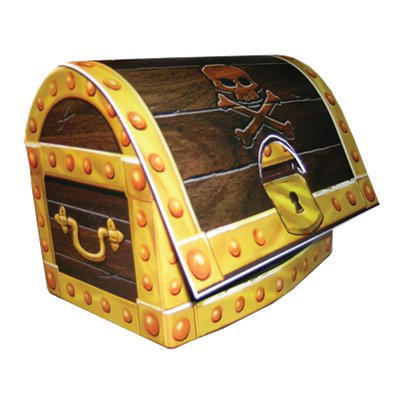 Pirate Treasure 3D Pirate Chest Centrepiece