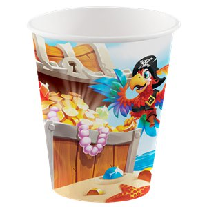 Pirate Treasure Party Cups - 256ml