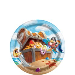 Pirate Treasure Dessert Plates - 18cm