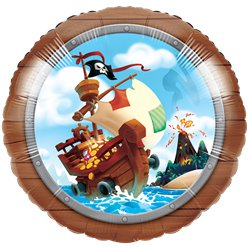 Pirate Treasure Foil Balloon - 18""