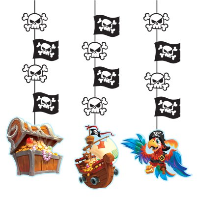 Pirate Treasure Hanging Cutouts - 102cm Long