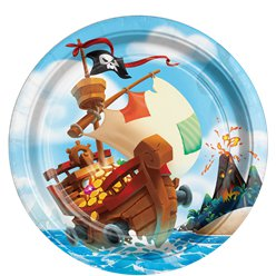 Pirate Treasure Paper Party Plates - 23cm