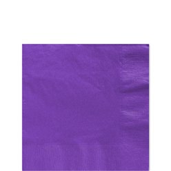 Purple Beverage Napkins - 25cm