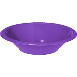 Purple Party Bowls - 355ml Plastic