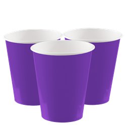 Purple Paper Cups - 266ml