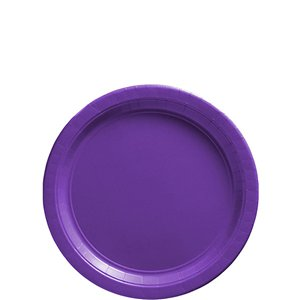 Purple Dessert Plates - 18cm Paper Party Plates