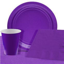 Purple Party Pack For 8 People - Value Pack For 8