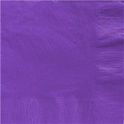 Purple Dinner Napkins - 40cm Square 2ply Paper