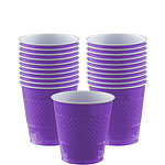 Purple Cups - 266ml Plastic Party Cups