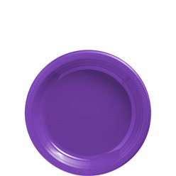 Purple Dessert Plates - 18cm Plastic Party Plates