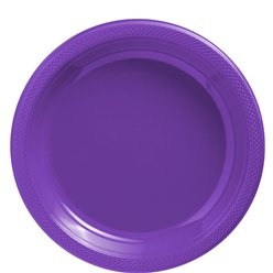 Purple Plates - 23cm Plastic Party Plates
