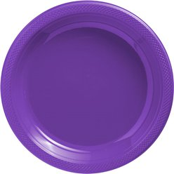 Purple Serving Plates - 26cm Plastic