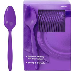 Purple Reuseable Plastic Spoons
