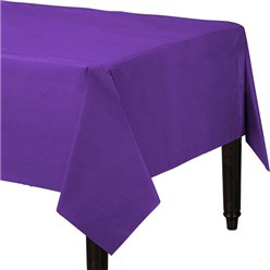 Purple Plastic Tablecover - 1.4m x 2.8m
