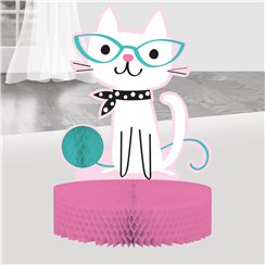 Purr-fect Party Honeycomb Table Centerpiece - 30.5cm