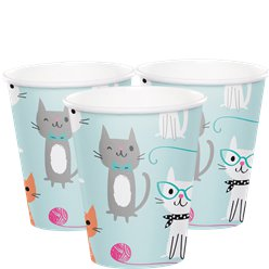 Purr-fect Party Paper Cups - 255ml