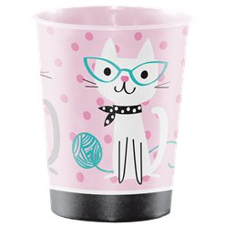 Purr-fect Party Plastic Favour Cup - 473ml