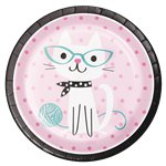 Purr-fect Party Paper Plates - 23cm