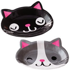 Purr-fect Assorted Cat Paper Plates - 23cm