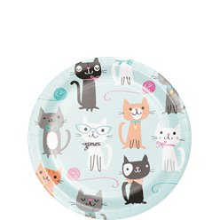 Purr-fect Party Paper Plate - 18cm
