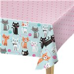Purr-fect Party Plastic Tablecover - 1.3m x 2.5m
