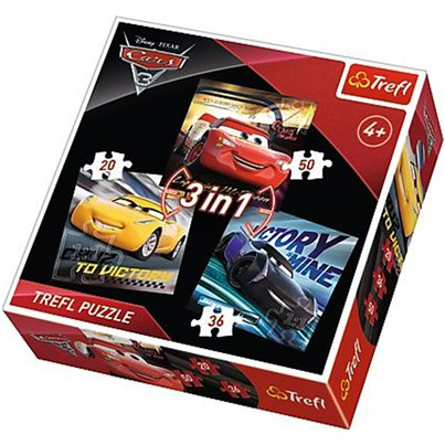 Disney Cars 3in1 Puzzle Set