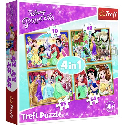 Disney Princess 4 in 1 Puzzle