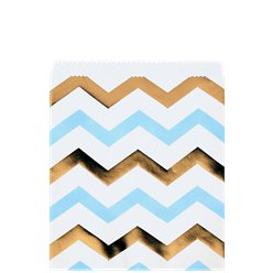 Pattern Works Blue & Gold Chevron Sweet Bags