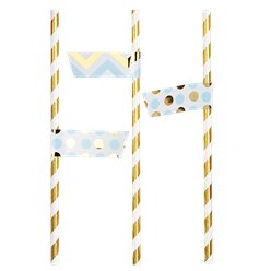 Pattern Works Blue & Gold Straw Flags