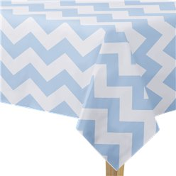 Pattern Works Blue Chevron Tablecover - 1.8m