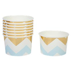 Pattern Works Blue & Gold Chevron Treat Tubs