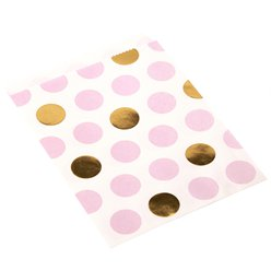 Pattern Works Pink Polka Dot Paper Sweet Bags